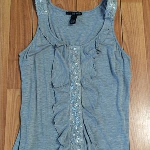willi smith grey embellished tank